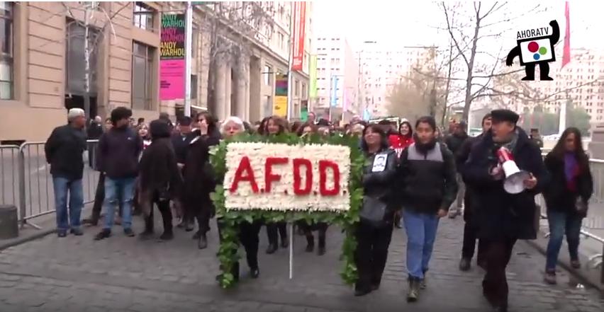 Homenaje AFDD en Morandé 80