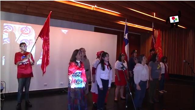 """Celebración del centenario de la """"Revolución de Octubre"""" en Santiago de Chile."""