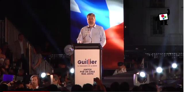 Gran cierre de Alejandro Guillier el candidato de las fuerzas progresistas